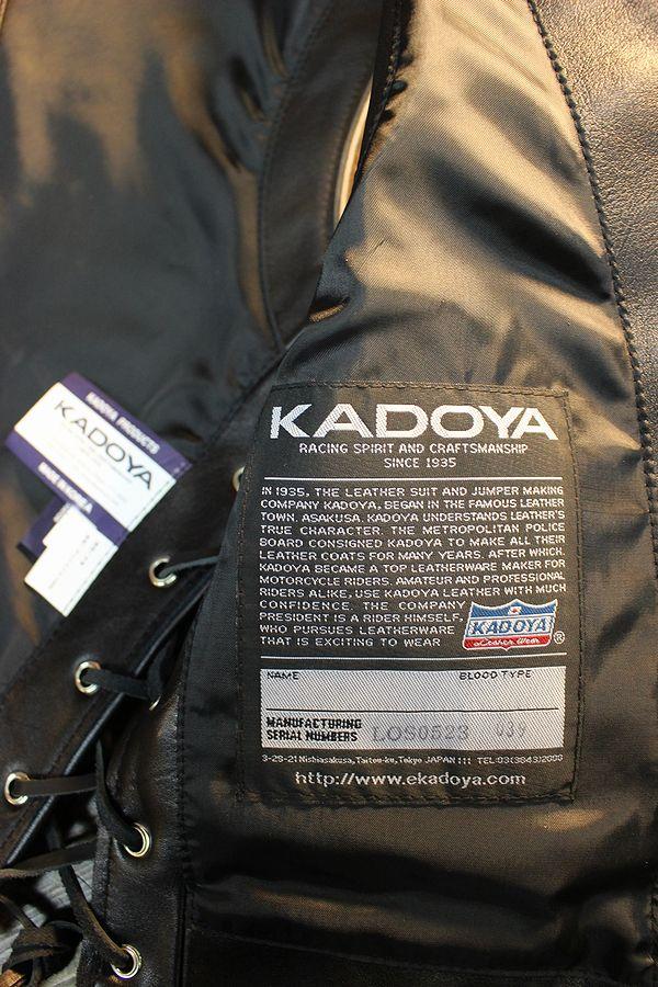 カドヤ(KADOYA)  BUTTON DOWN VEST ボタンダウンベスト レザーベスト