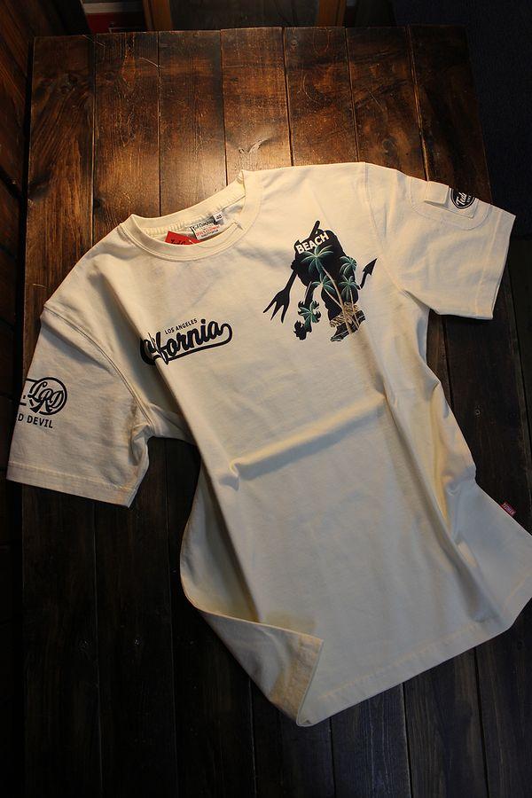 エフ商会 TEDMAN テッドマン TDSS-529 カリフォルニア コットンTee Tシャツ オフホワイト