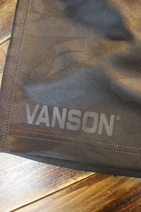 VANSON バンソン NVSU-2101 トレーニングウェア&ショーツ ナップザックが付属 ブラックカモ
