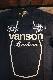 VANSON バンソン NVST-2013 SBO半袖Tee 刺繍 ブラック