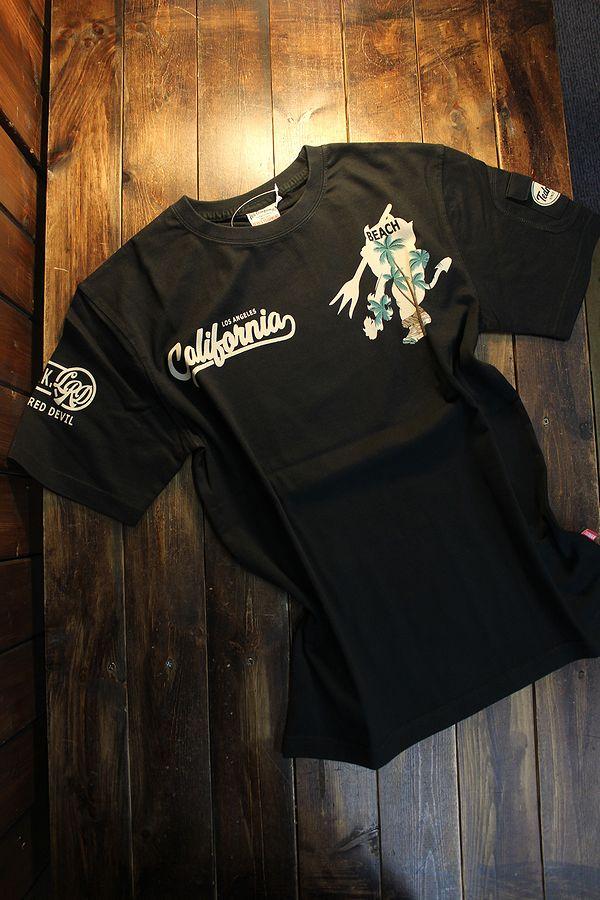 エフ商会 TEDMAN テッドマン TDSS-529 カリフォルニア コットンTee Tシャツ ブラック