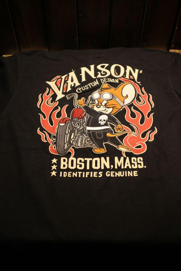VANSON×Tom and Jerry トムとジェリーコラボ TJV-901 天竺ロンTee