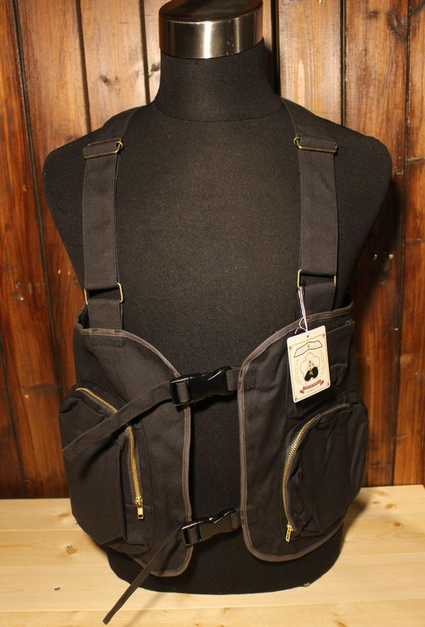 KOJIMA GENES 児島ジーンズ RNB-5010 ウェアラブルバッグベスト (着るバッグ) チャコール