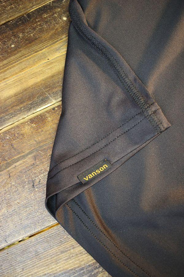 VANSON バンソン NVST-2123 スカル ドライ半袖Tee 吸汗速乾,抗菌防臭,UVカット ブラック