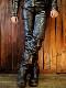 カドヤ(KADOYA) EVO-PANTS  レザーパンツ エボパンツ 革パンツ パテット付き ライダースパンツ