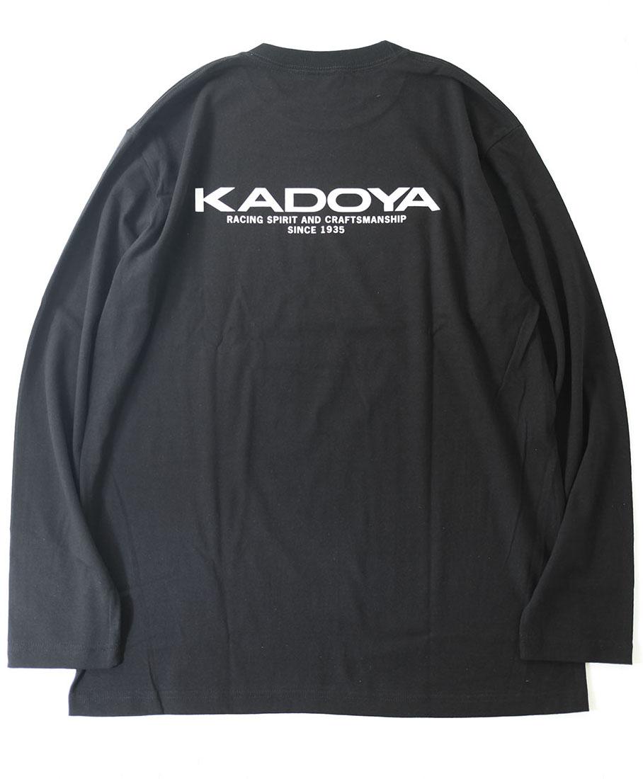 KADOYA(カドヤ) LONG-T.KADOYA LOGO ロング-T KADOYAロゴ ブラック