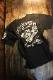 VANSON バンソン NVST-2111 天竺半袖Tee 刺繍 ビッグツイン Tシャツ ブラック