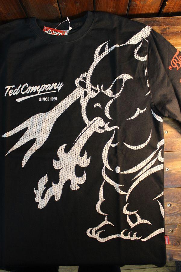 エフ商会 TEDMAN テッドマン TDLS-337 BIGTEDMAN 長袖Tee ロンTee ブラック