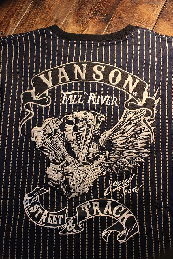 VANSON バンソン NVST-2111 天竺半袖Tee 刺繍 ビッグツイン Tシャツ ウォバッシュ