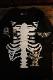 VANSON×CROWS×WORST 武装戦線 コラボ CRV-2113 天竺半袖Tee デスラビット 刺繍Tシャツ ブラック