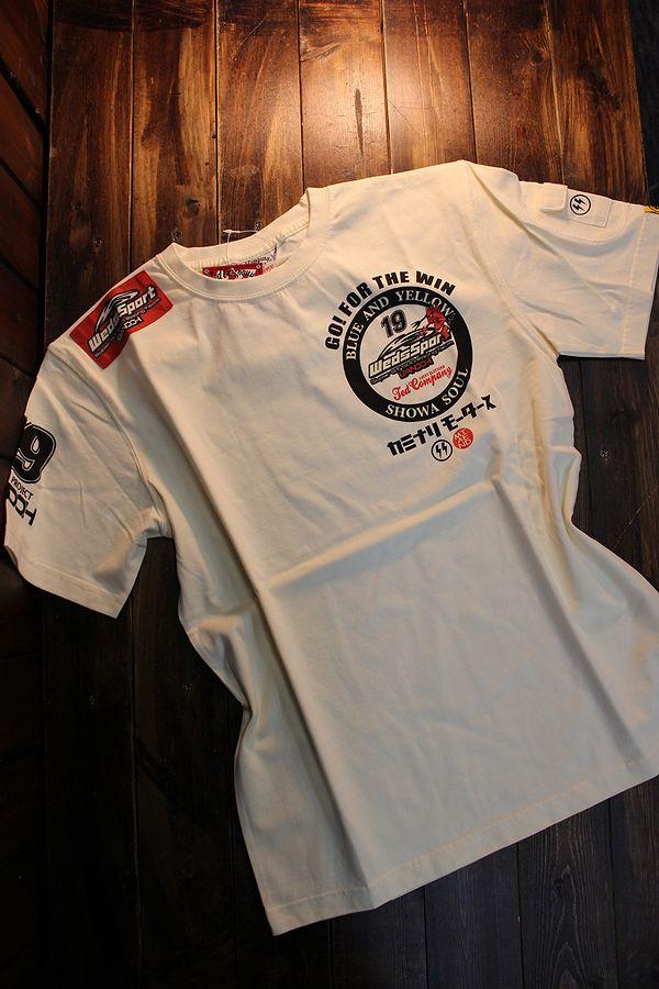 WEDSSPORTS×TEDMAN×カミナリ コラボ WEDSTEE-11 WEDSSPORTSコラボTシャツ オフホワイト