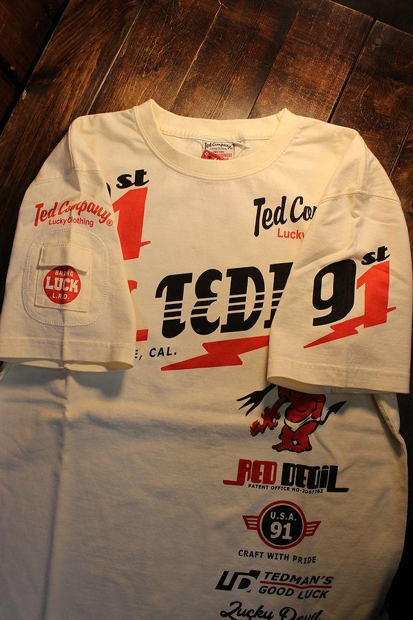 エフ商会 TEDMAN テッドマン TDSS-533 スタンダード テッドマン コットンTee Tシャツ オフホワイト