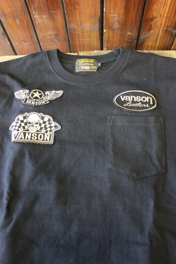 VANSON バンソン 長袖Tシャツ 天竺ロングスリーブTee ロンT NVLT-714 天竺ロンTEE ポケット付き