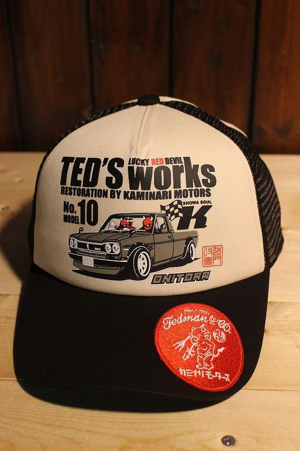 エフ商会 TEDMAN テッドマン×カミナリ 雷 KMC-1400 ハコトラ サニー トラック BLACK/O.WHITE