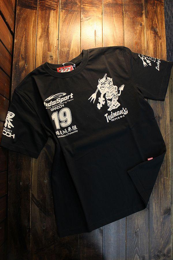 WEDSSPORTS×TEDMAN×カミナリ コラボ WEDSTEE-12 WEDSSPORTSコラボTシャツ ブラック