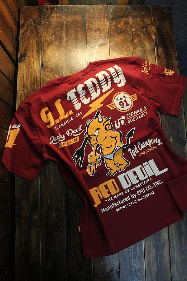 エフ商会 TEDMAN テッドマン TDSS-533 スタンダード テッドマン コットンTee Tシャツ ワイン