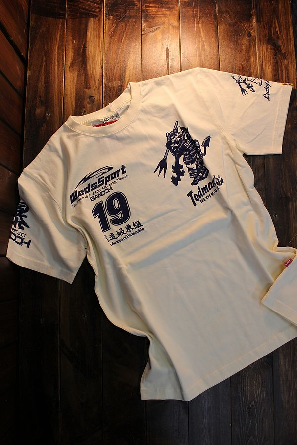 WEDSSPORTS×TEDMAN×カミナリ コラボ WEDSTEE-12 WEDSSPORTSコラボTシャツ オフホワイト