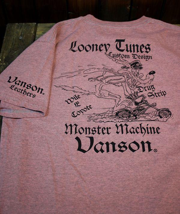 VANSON×LOONEY TUNES バンソン コラボ 半袖Tシャツ コヨーテ LTV-916 カナダ製 天竺半袖Tee Tシャツ
