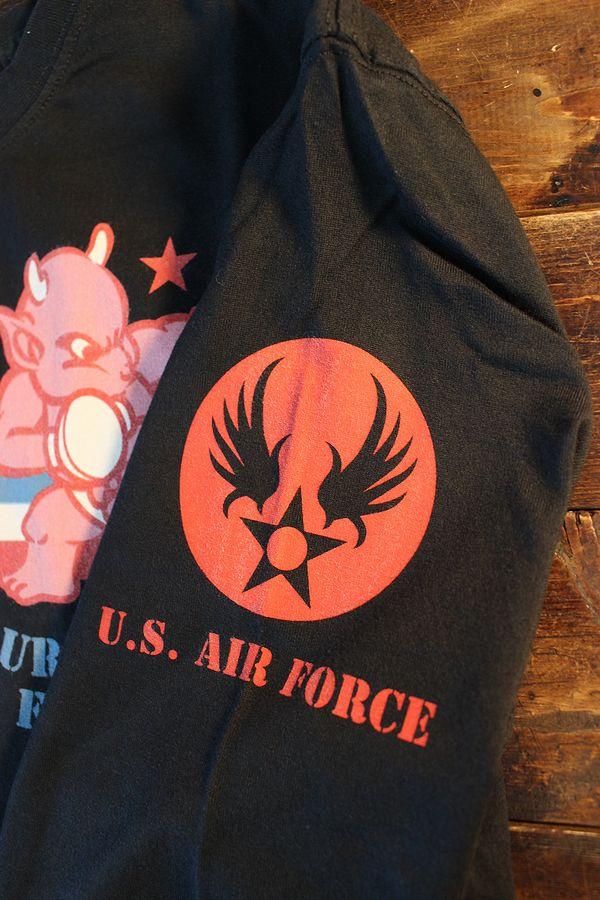 エフ商会 TEDMAN テッドマン TDLS-335 U.S. AIR FORCE 長袖Tee ロンTee ブラック