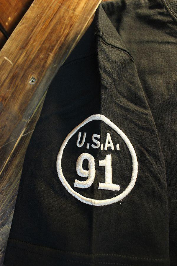 エフ商会 TEDMAN テッドマン TDSS-534 刺繍Tシャツ コットンTee ブラック