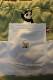 PANDIESTA JAPAN 熊猫謹製 パンディエスタ 551957 切替ボーダースウェットショーツ  セージグリーン×オフホワイト