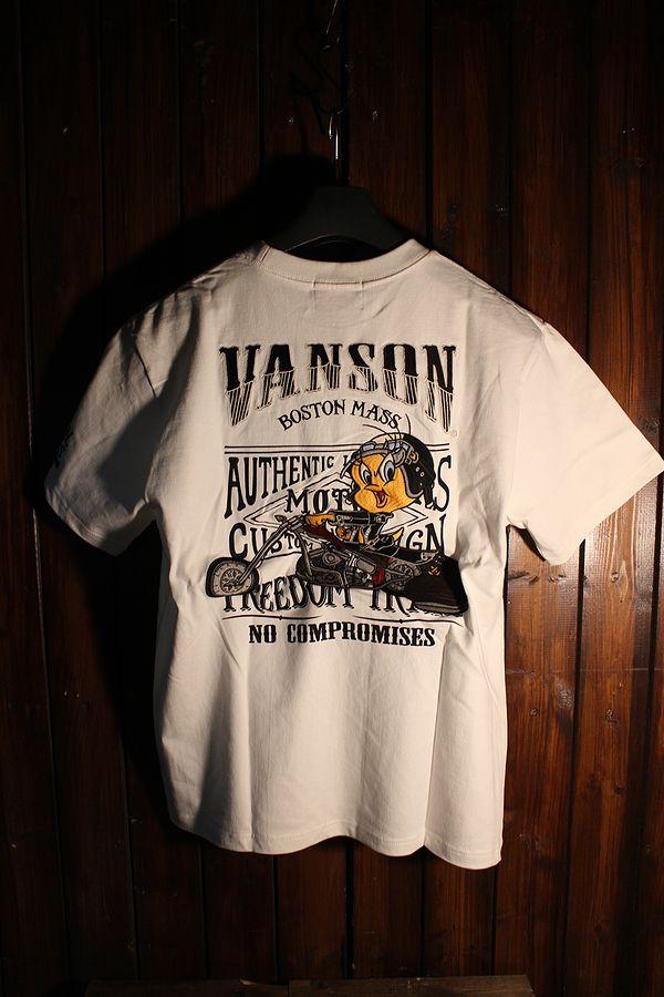 VANSON×LOONEY TUNES バンソン コラボ Roadrunner ロードランナー LTV-824 天竺半袖 トゥイーティーTシャツ
