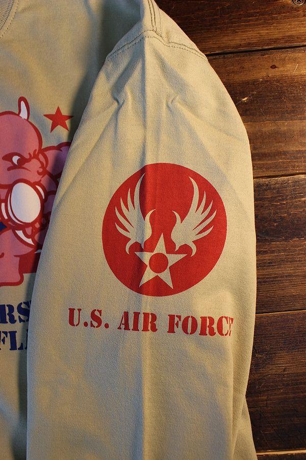 エフ商会 TEDMAN テッドマン TDLS-335 U.S. AIR FORCE 長袖Tee ロンTee ベージュ