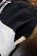 PANDIESTA JAPAN 熊猫謹製 パンディエスタ 551957 切替ボーダースウェットショーツ  ネイビー×ライトグレー