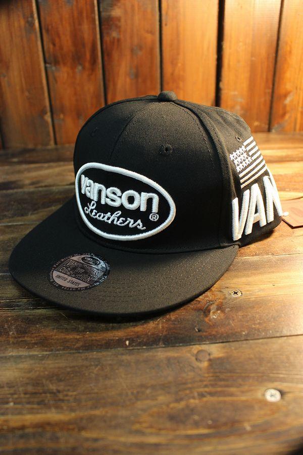 VANSON バンソン NVCP-2006 ツイル6パネルBBキャップ  ブラック