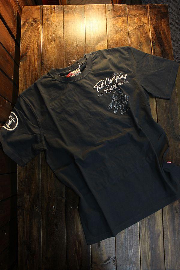 エフ商会 TEDMAN テッドマン TDSS-534 刺繍Tシャツ コットンTee ネイビー