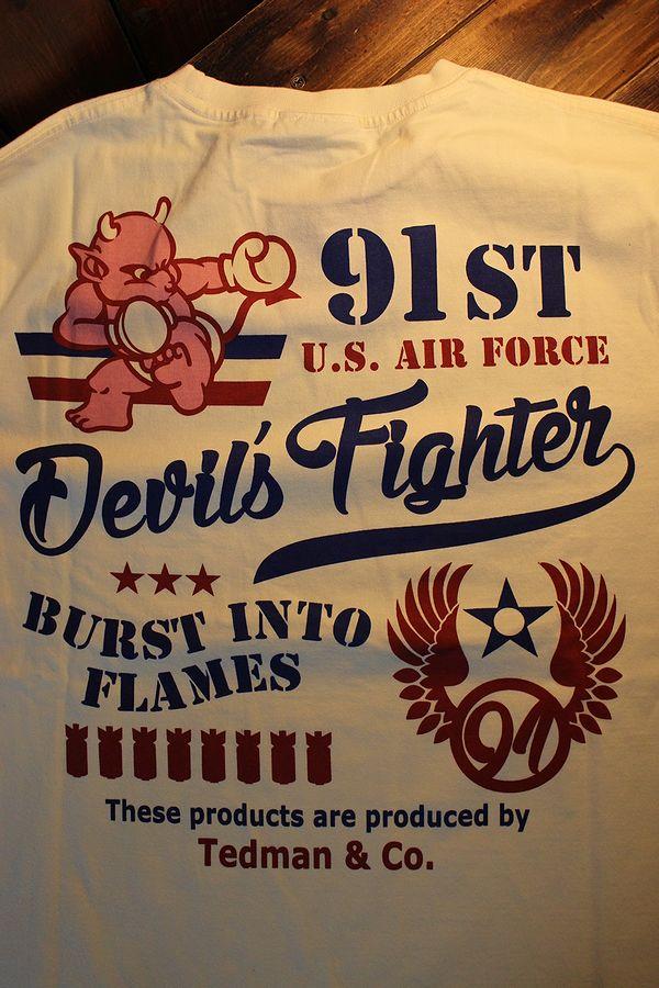 エフ商会 TEDMAN テッドマン TDLS-335 U.S. AIR FORCE 長袖Tee ロンTee オフホワイト