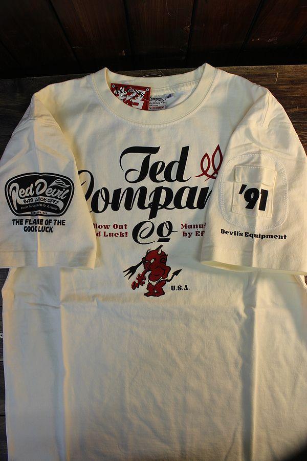 エフ商会 TEDMAN テッドマン TDSS-535 TEDCOMPANY コットンTee Tシャツ オフホワイト