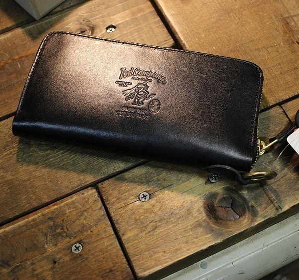 エフ商会 TEDMAN(テッドマン) TDW-250 長財布 ウォレット 栃木レザー ラウンドジップウォレット ブラック