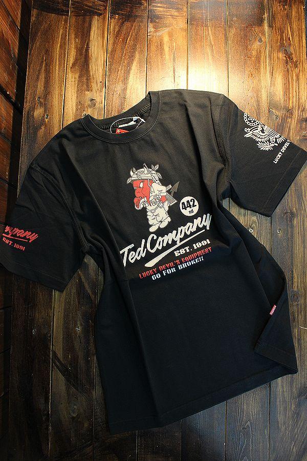 エフ商会 TEDCOMPANY TEDMAN(テッドマン) TDSS-520 U.S.ARMY アーミー Tシャツ ブラック