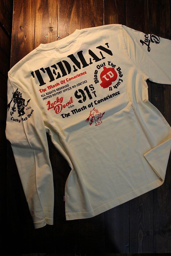 エフ商会 TEDMAN テッドマン TDLS-338 スタンダードテッドマン 長袖Tee ロンTee オフホワイト