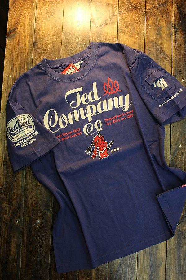 エフ商会 TEDMAN テッドマン TDSS-535 TEDCOMPANY コットンTee Tシャツ ブルー