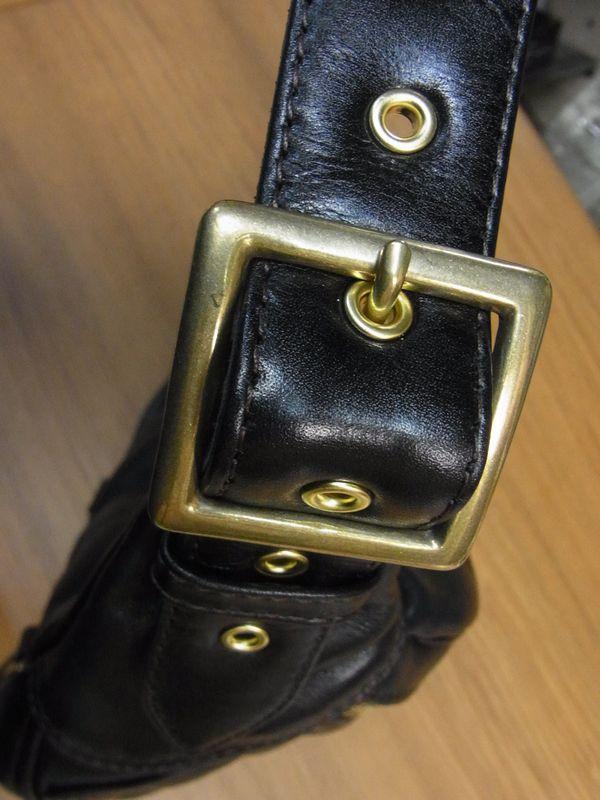 KADOYA×Historyコラボ HFG/SHOULDER BAG-PTD へッドファクトリーショルダーバッグ・パテッド 真鍮・ゴールド・オイルソフトステア 専用ハーネス付き