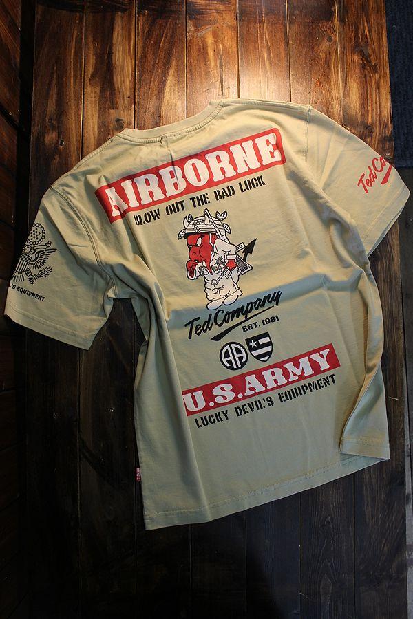 エフ商会 TEDCOMPANY TEDMAN(テッドマン) TDSS-520 U.S.ARMY アーミー Tシャツ ベージュ