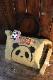 PANDIESTA JAPAN 熊猫謹製 パンディエスタ 551151 ショルダーストラップ付き切替トート ベージュ
