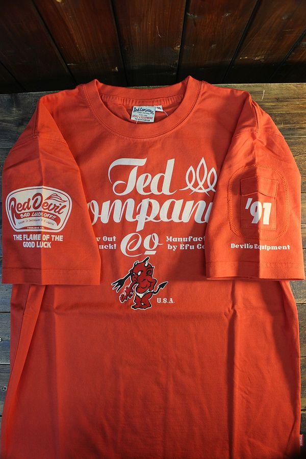 エフ商会 TEDMAN テッドマン TDSS-535 TEDCOMPANY コットンTee Tシャツ レッド