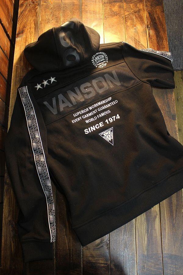 VANSON バンソン NVSZ-2101 綿混ダブルスムースパーカー