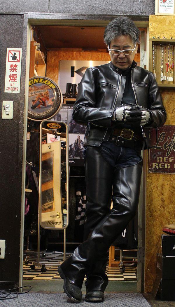 KADOYAでも買えない! History別注 KADOYA FPS-1H シングルライダース レザージャケット