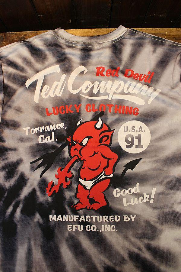 エフ商会 TEDMAN テッドマン TDRYT-1000 タイダイドライTシャツ ブラック
