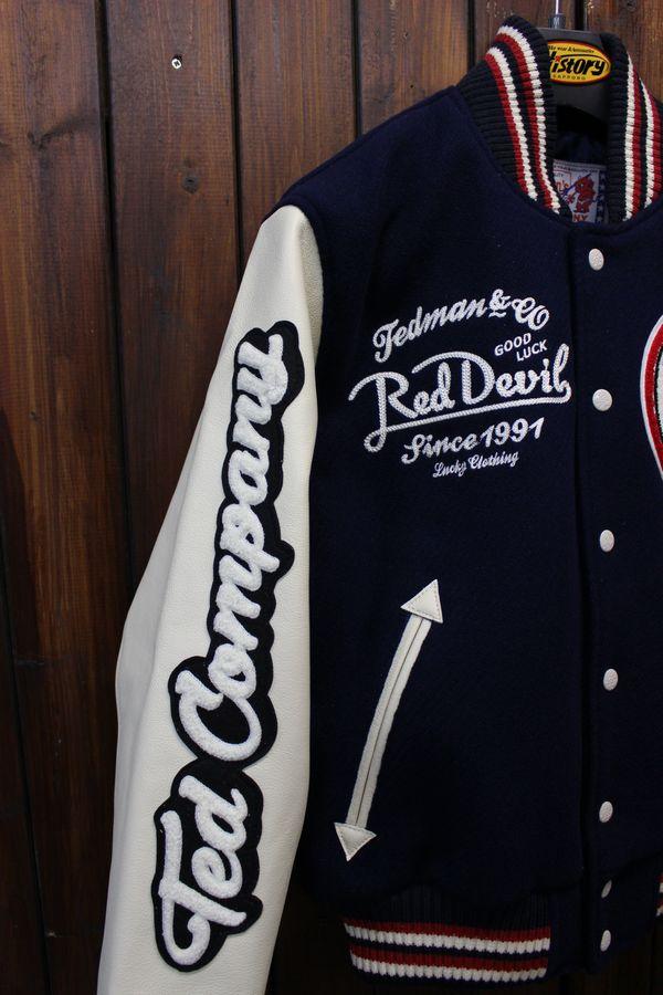 エフ商会 TEDMAN(テッドマン) TEDMAN シリアルナンバー付き 限定200着 TDJ-18000 スタジャン スタジアムジャケット
