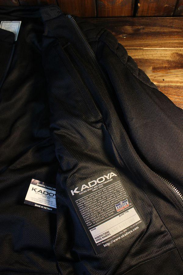 カドヤ(KADOYA) K'S LEATHER & K'S PRODUCT VLM-4 ライディングメッシュジャケット ブラック