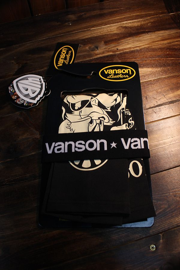 VANSON×Tom and Jerry トムとジェリーコラボ TJV-2015 ドライアームシェードロング ブラック