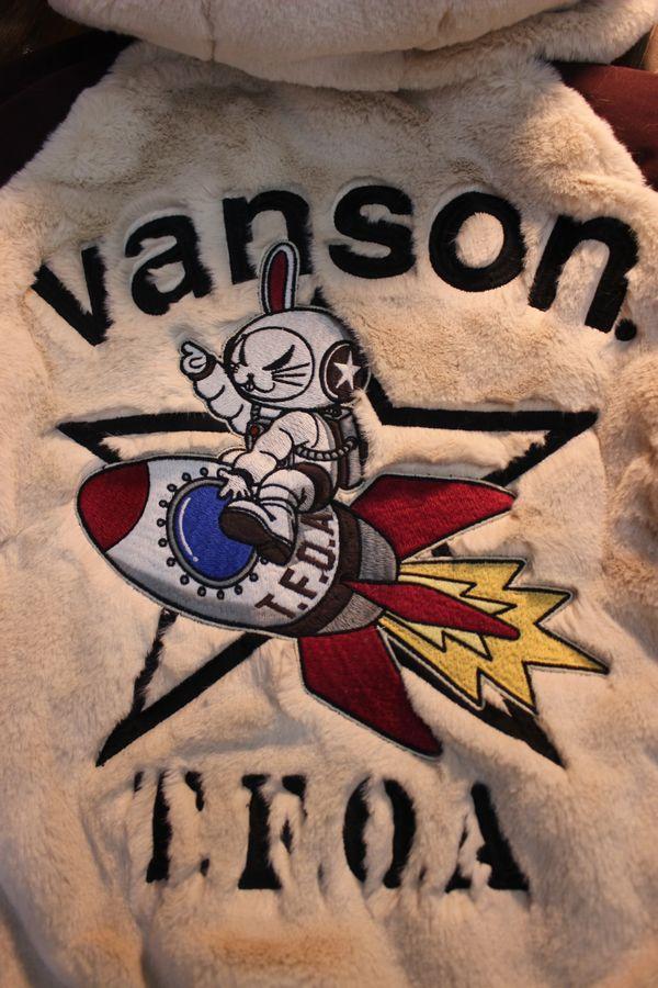 VANSON×CROWS×WORST 武装戦線 CRV-2033 リバーシブルボアパーカー アイボリー