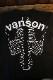 VANSON バンソン NVST-2122 ベア天半袖Tee  ボーン柄 エンボスシート ブラックホワイト