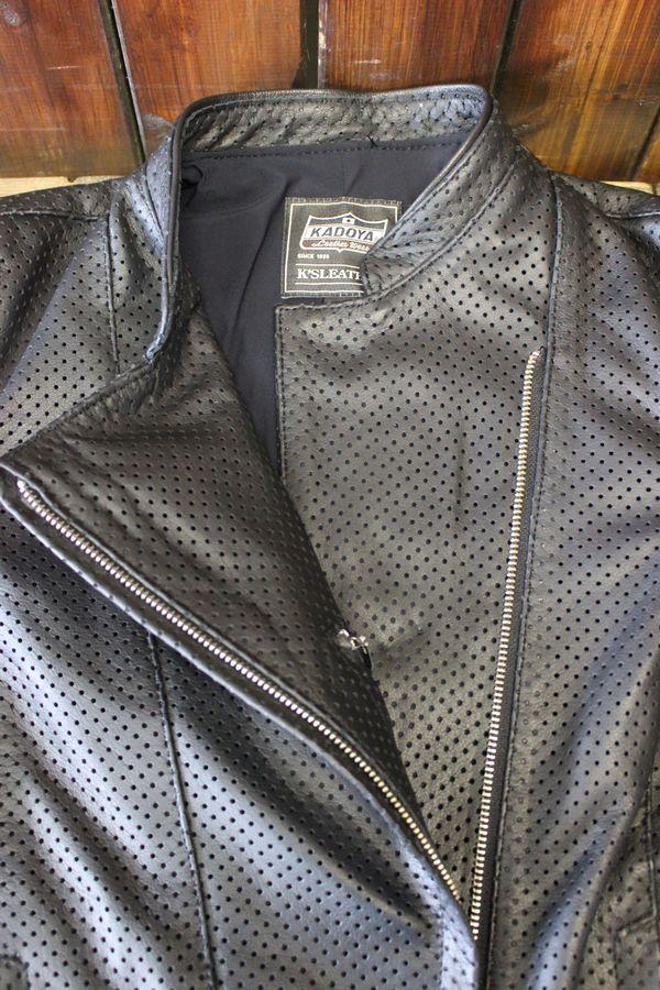 KADOYA (カドヤ) K'S LEATHER GRAYCE FIELD レディース パンチングレザージャケット