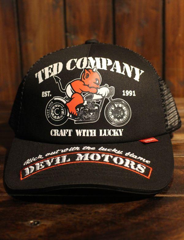 エフ商会 TEDMAN(テッドマン) TDC-7700 DEVIL MOTORS メッシュキャップ ブラック